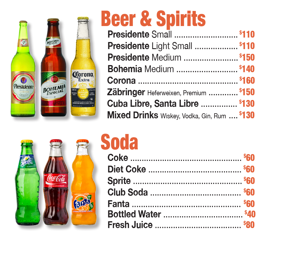 Ceiba Pizzeria Drink Menu Beer_and_soda_for_sale